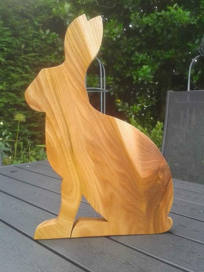Hardwood Hare Cheese Breadboard Elm