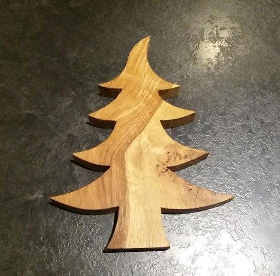 Solid Oak 4 Tier Spruce Tree