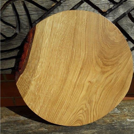 Hardwood Cheese / Cake / Bread / Pizza Board. Oak (Large)