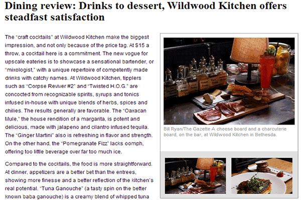 Wildwood Kitchen Bethesda Robert Wiedmaier