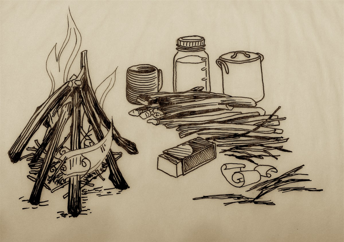 drawing of fire