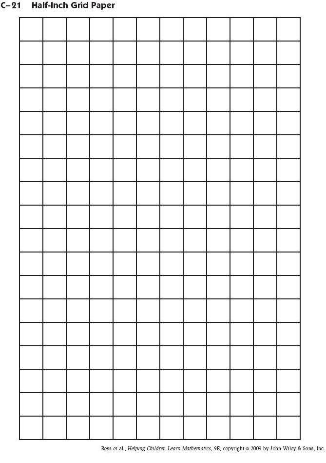 C-21 Half-Inch Grid Paper