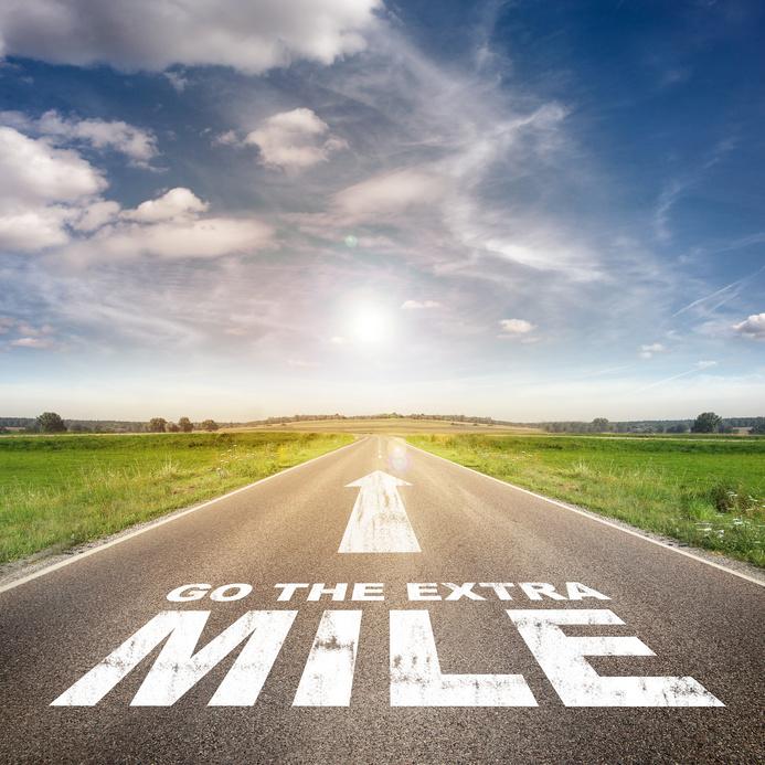 Caminar la milla extra. ¿Estás haciéndolo?