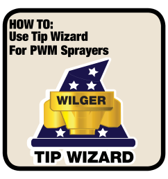 guide to using tip wizard for pulse width modulation spray systems wilger [ 3333 x 3333 Pixel ]