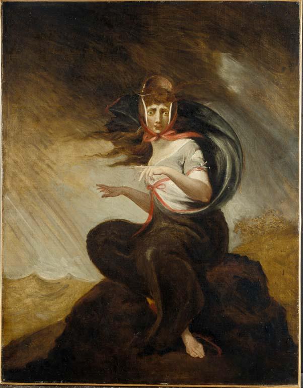 Johann Heinrich Füssli: Die wahnsinnige Kate, 1806/07, Öl auf Leinwand, 91 x 71 cm, Freies Deutsches Hochstift / Frankfurter Goethe-Museum, Foto: Ursula Edelmann