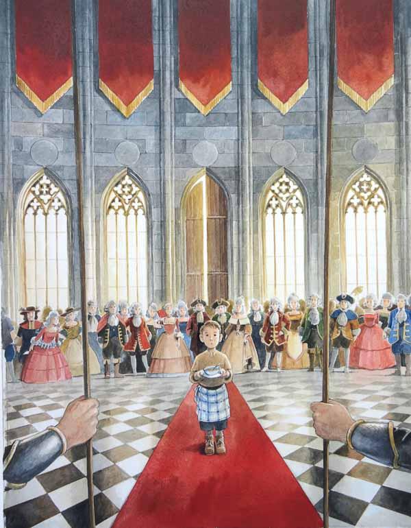 Cover des Kinderbuchs Mick Mangodieb und die Rezepte der Sieben Weltmeere von Marloes Morshuis und Torben Kuhlmann ©Torben Kuhlmann/Gernstenberg