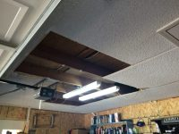 Garage Ceiling Overhaul - Drywall to Plywood.