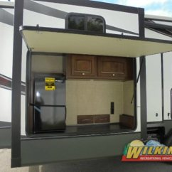 Fifth Wheel Campers With Bunkhouse And Outdoor Kitchen Marble Countertops Rv Floorplans So Many To Choose Wilkins Heartland Oakmont 375qb