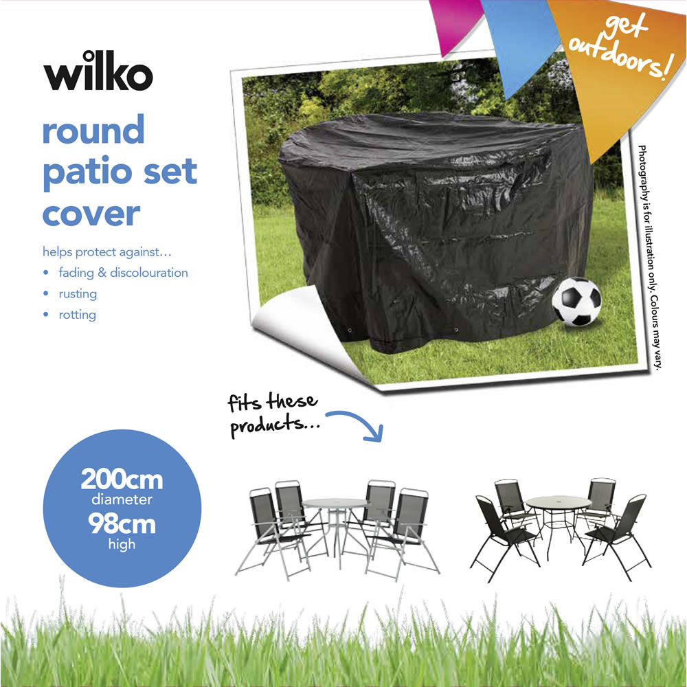 garden chair covers wilko comfortable chairs for reading round patio set polyethylene cover image 2