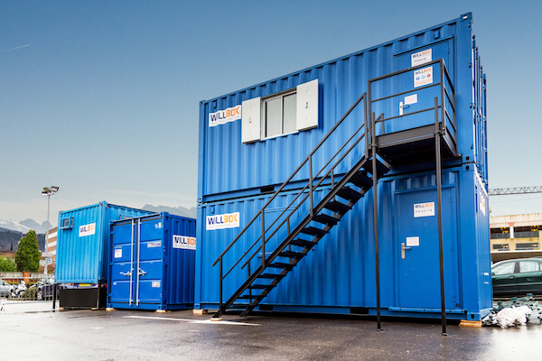 Containers cabins for construction sites willbox for Construction container belgique