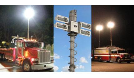 Night Scan Light Towers  Portable  Mobile Scene Lighting