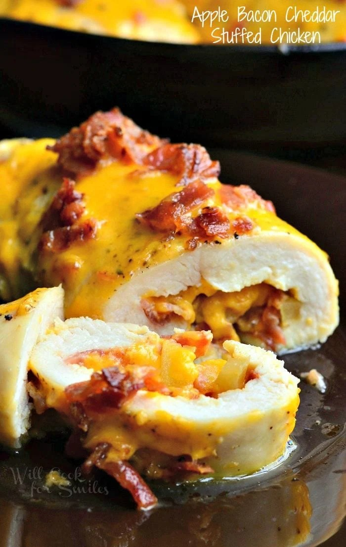 Apple Bacon Cheddar Stuffed Chicken Pockets  Will Cook