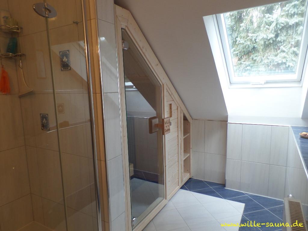 Sauna Dachschrge  WilleSaunade