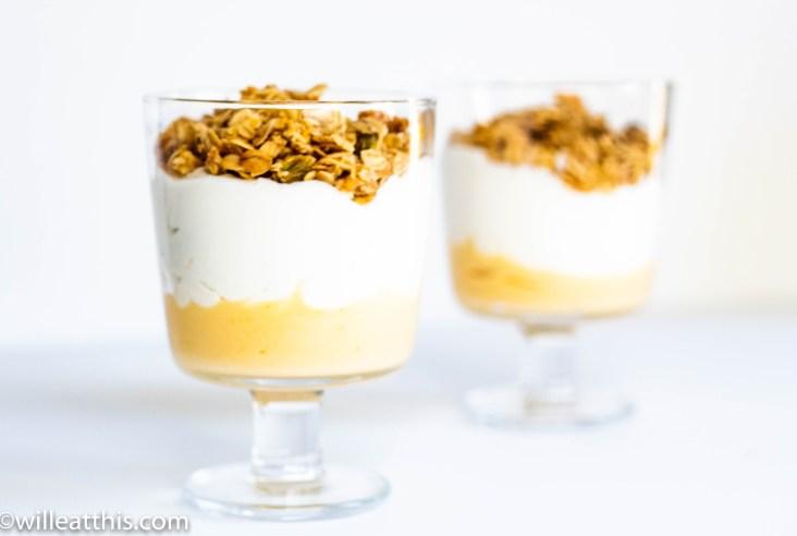 Blood Orange curd Parfait with yogurt and Granola