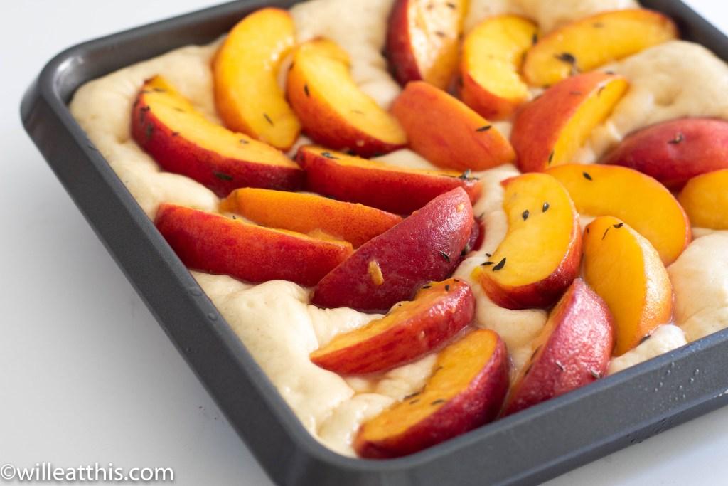 Raw Peach Focaccia