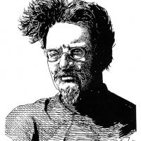 Illustration of Leon Trotsky