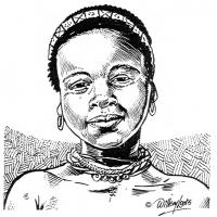 Illustration of a Zulu Girl