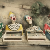 Clowns fairground game