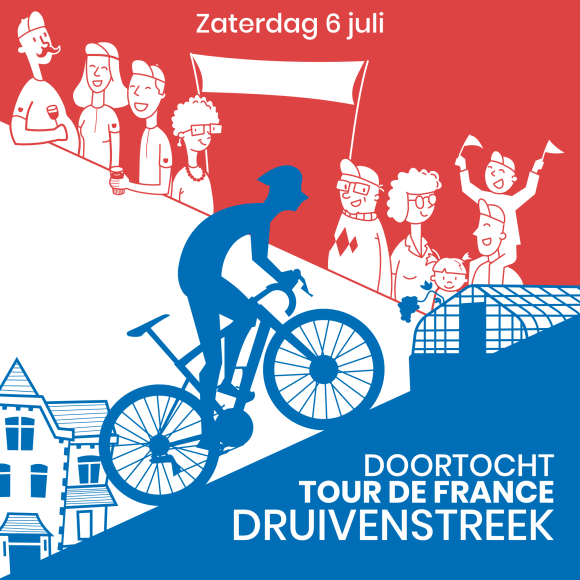 Doortocht tour de france druivenstreek