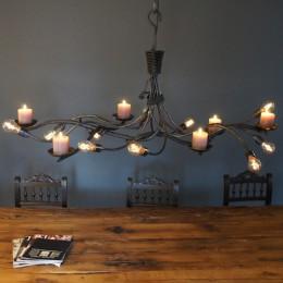 Landelijke verlichting design lampen eiken