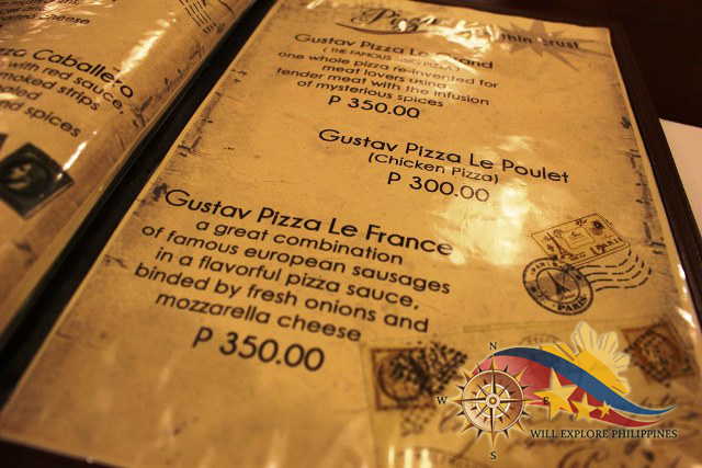 Gustav Cafe Balibago Angeles City Pizza Menu 4