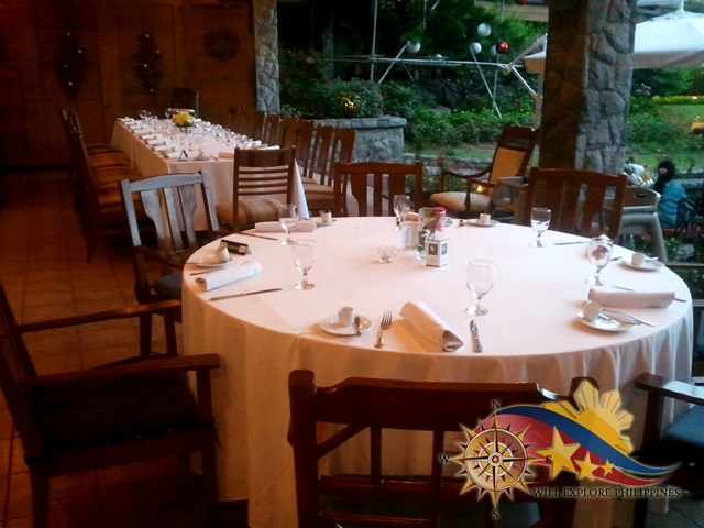 Le Chef Dining Area Empty at The Manor Camp John Hay Baguio City