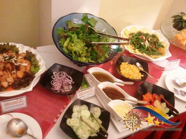 Potato Salad Mixed Green Salad at Te Quiero Restaurant Microtel Baguio