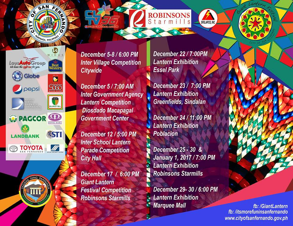 giantlanternfestival2016sanfernandopampangaschedule2016