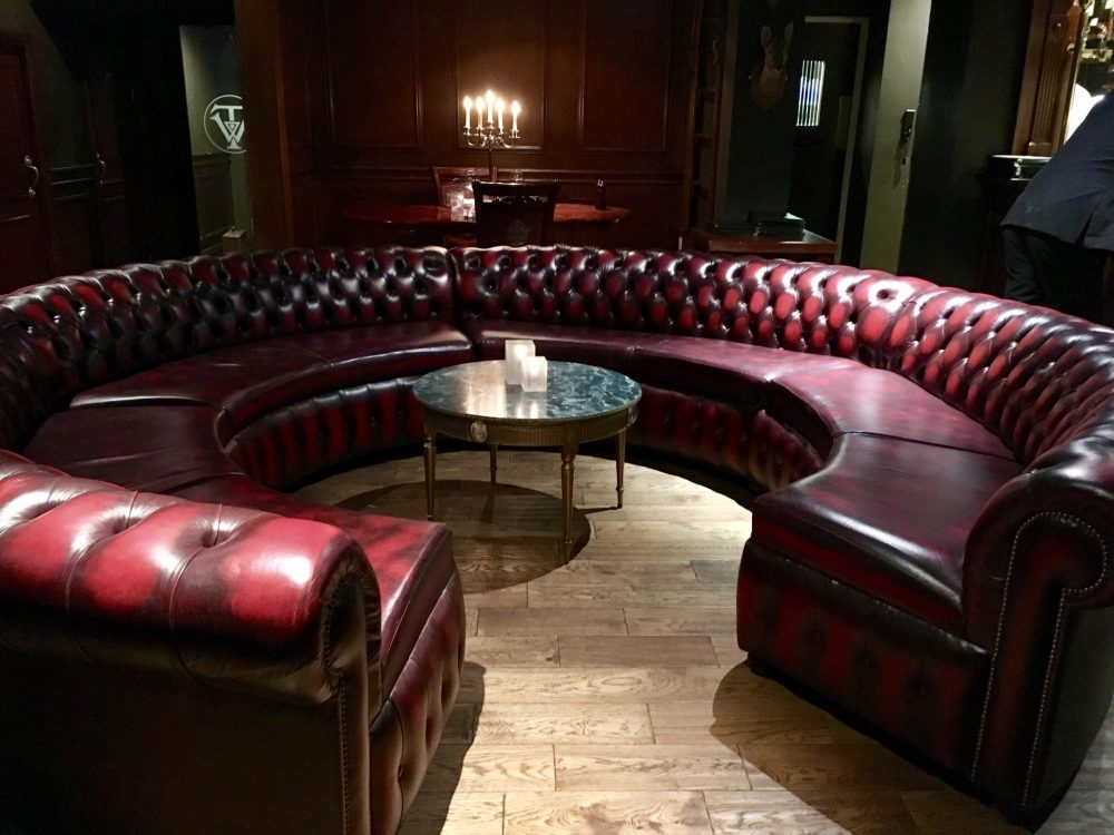 large circular seating area, the walton hotel