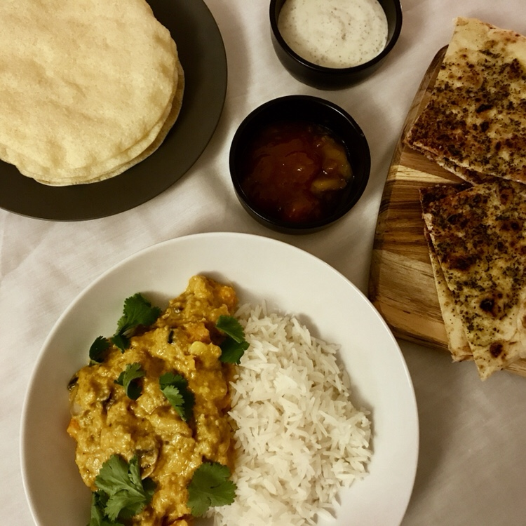 mushroom sweet potato vegan curry