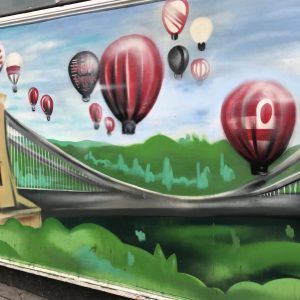 Hot air balloon graffiti
