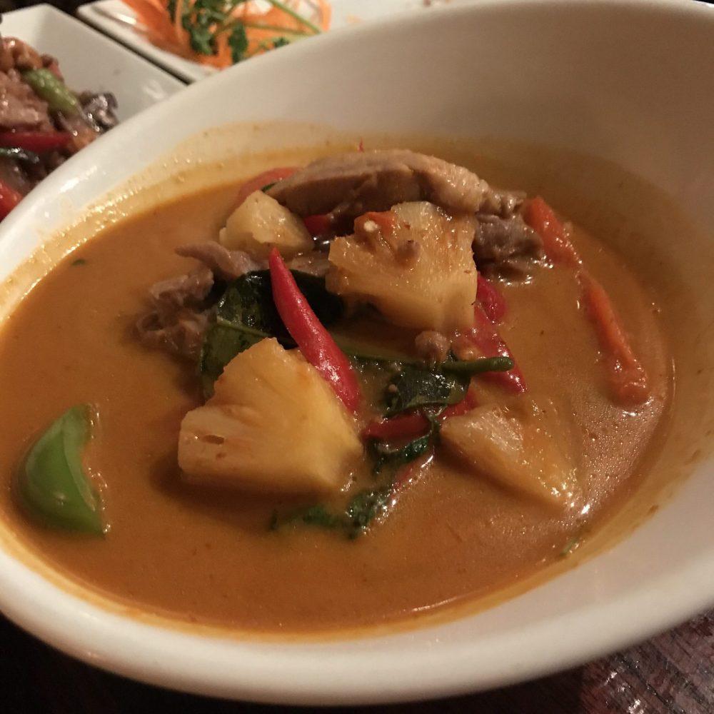 red thai curry with duck Koh Thai Tapas Bath