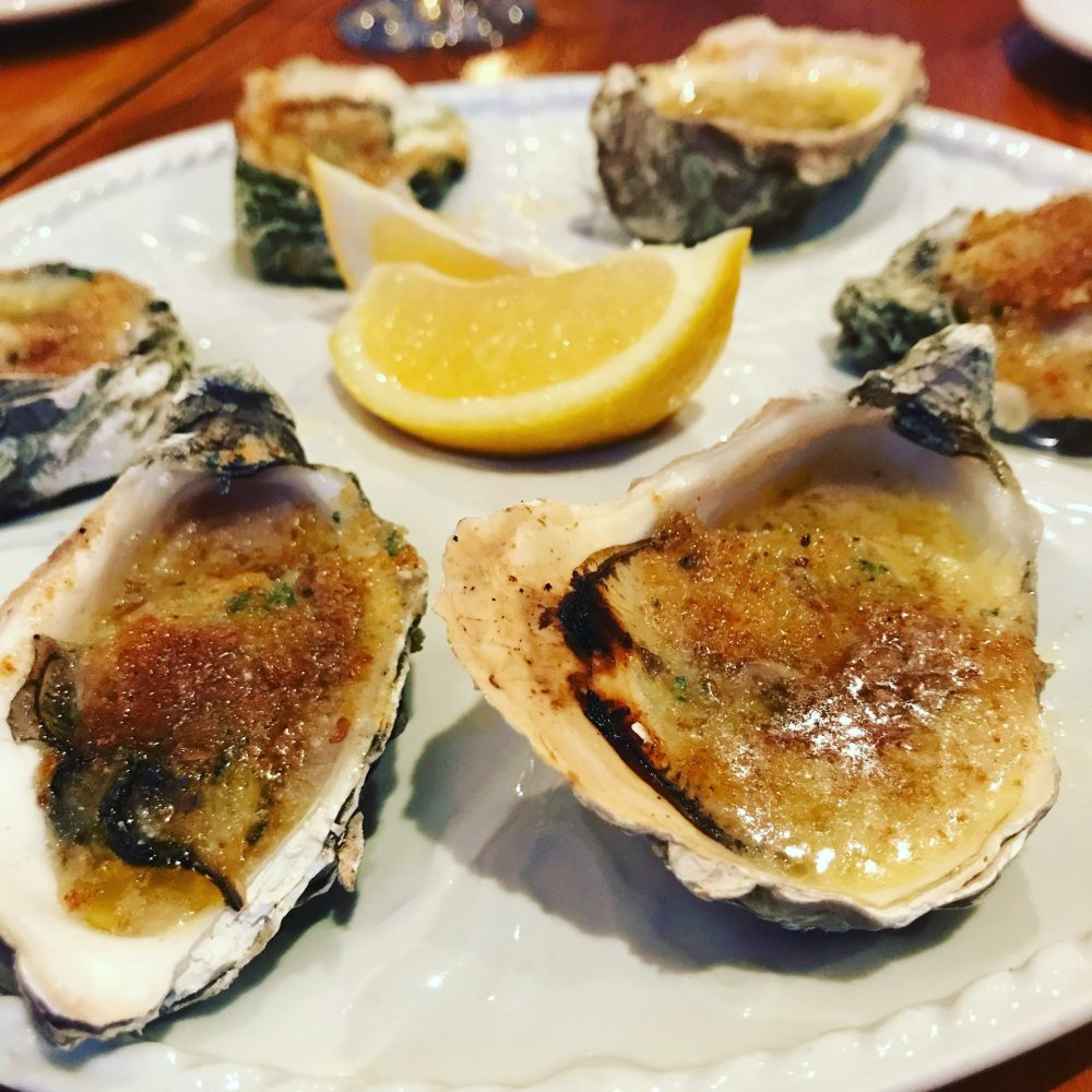 Scottish Oysters Grilled with Garlic Butter and Breadcrumbs