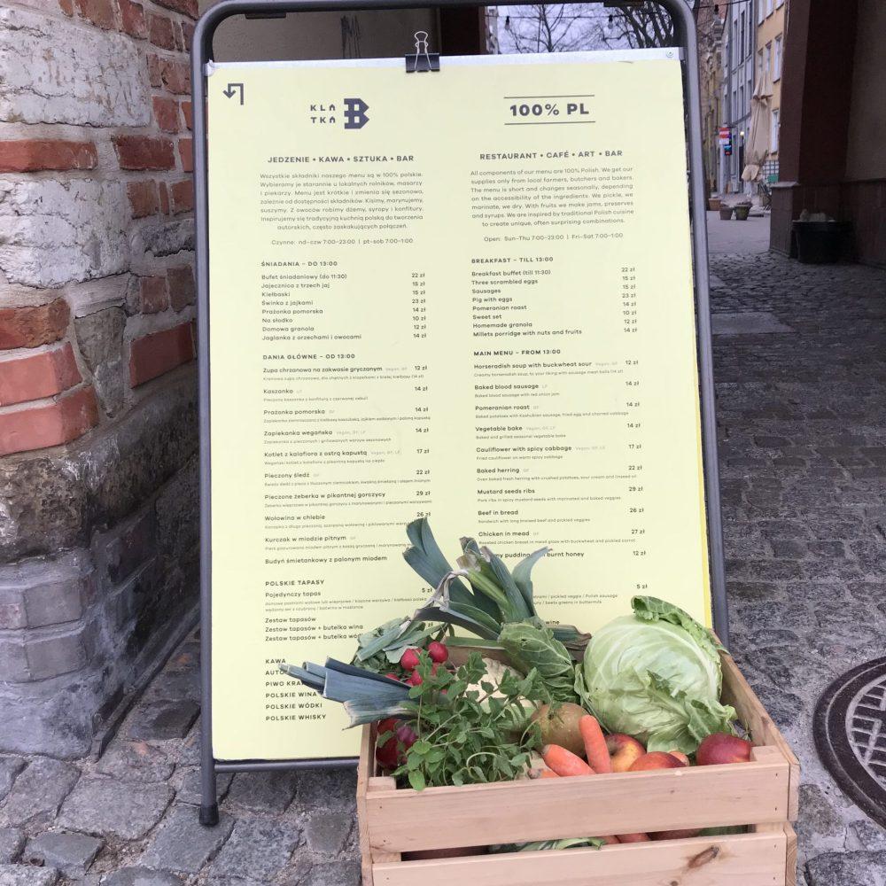 Klatka B menu