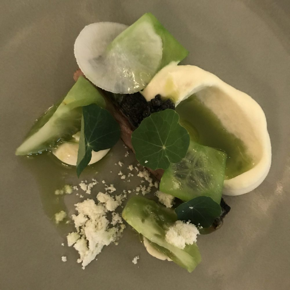 mackrel and green tomato