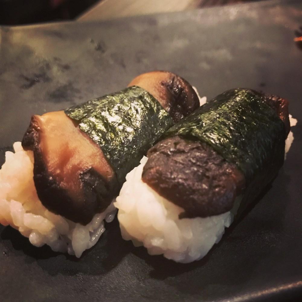 shiitake nigiri