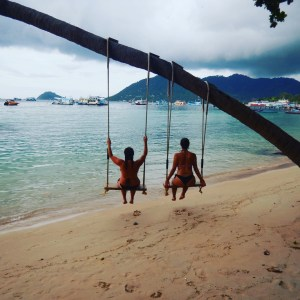 swings on Beach on koh Tao