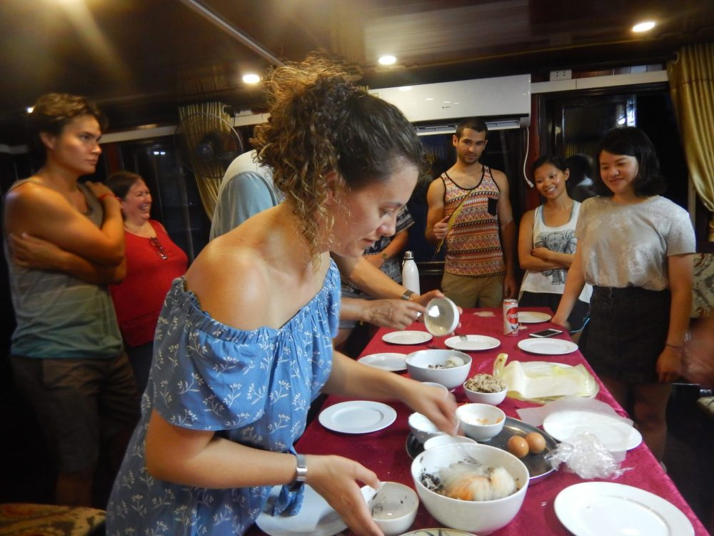 Cooking class on board