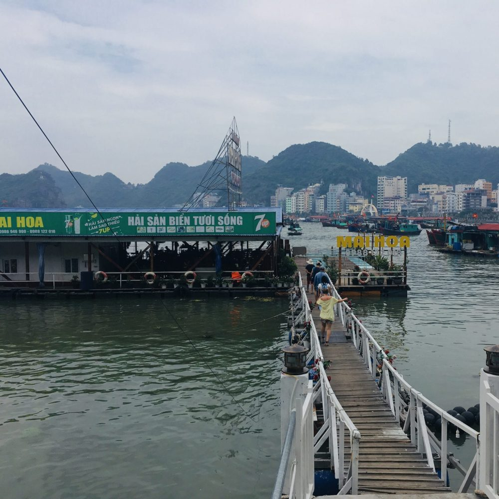 Floating restaurant, Cat Ba Island