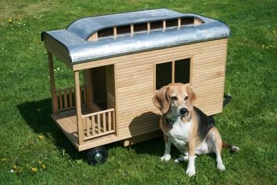 Willi-Wood Zirkuswagen Hundehütte aus Holz