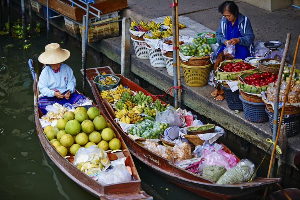 Thailand, Ratchaburi province, Damnoen Saduak, floating market