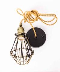Pendant Cage Lamp Light Brown - Vintage Lighting ...