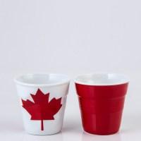 Canada Flag Crumpled Espresso Cup, 5.5cm, 80ml | William ...