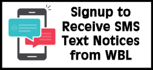 Signup for SMS Text Messages from WBL