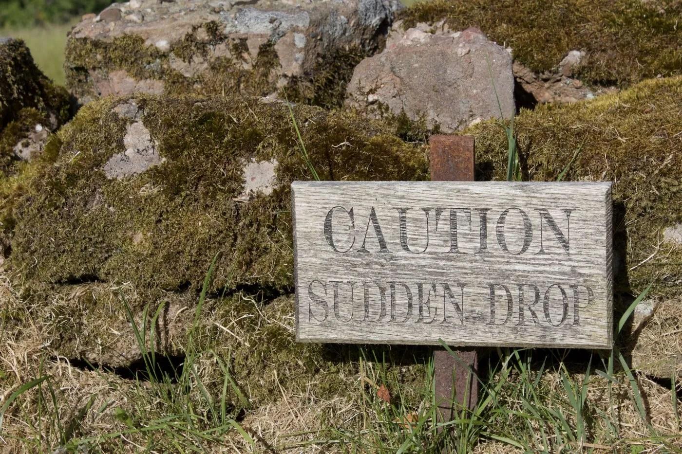 Wrongsized? Sudden drop...