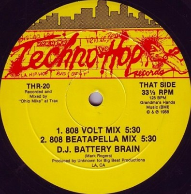 D.J. Battery Brain - 8 Volt Mix [12'' Vinyl 1988