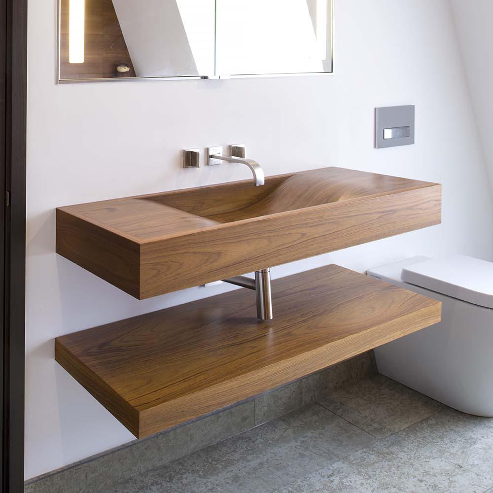 handmade teak basins wooden basins