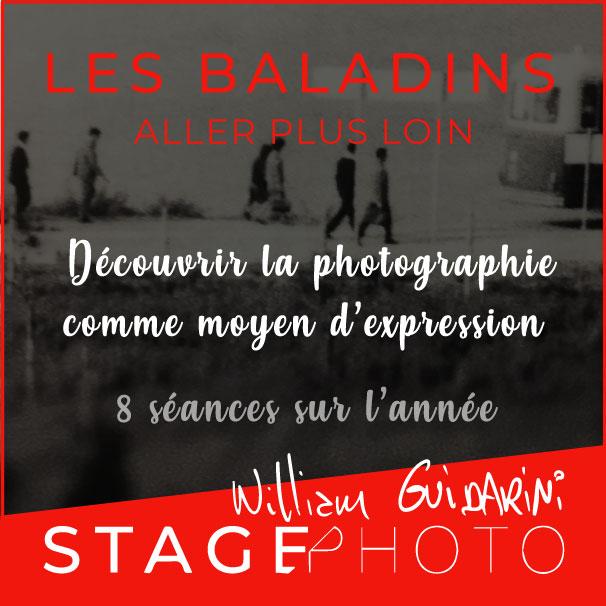 Stage Photo Les Baladins, avec William Guidarini