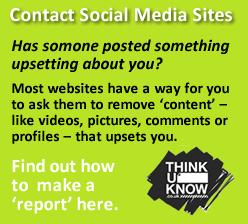 Contact social media site button