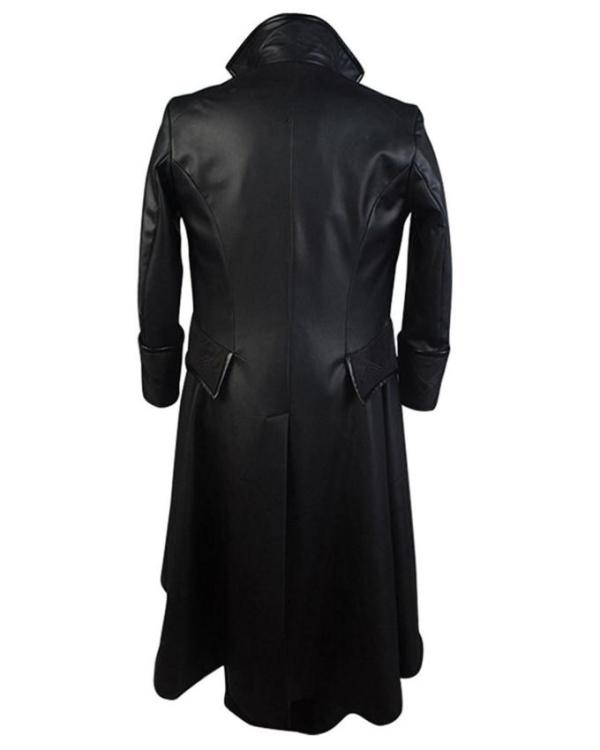 Once Upon A Time Captain Hook Leather Trench Coat